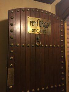 Pepe Nero entrance