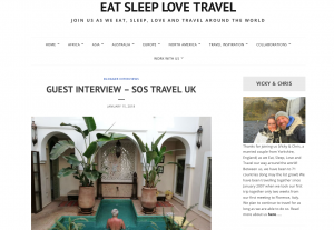 Our Guest Interview with EatSleepLoveTravel 1