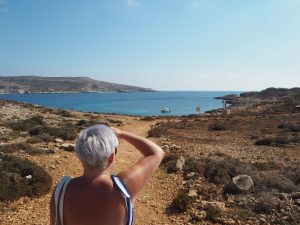 """Comino with Me""- Blue Lagoon 16"